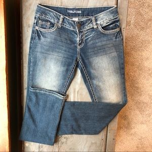 Maurices bootcut jeans size 3/4